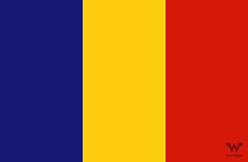 WHATABUS Aufkleber Flagge Rumänien - Länderflagge als Sticker 8,5 x 5,5 cm