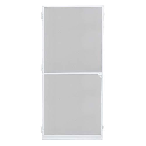 wolketon Fliegengitter Tür, 95x210CM Fliegengitter Gitter insektenschutz Tür Wasserdicht Alu-Rahmen Fliegengitter fiberglas Für Wohnzimmer Fenster Balkone