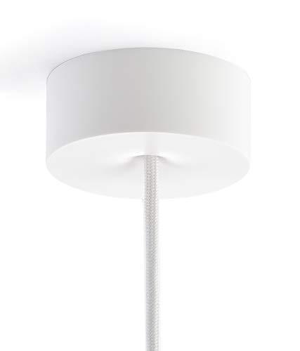 CANOMAG® Deckenbaldachin, Formschöne magnetische Baldachin mit integrierte Zugentlastung, Matt Weiss, Polycarbonat - Ø8,7 cm - Made in Germany