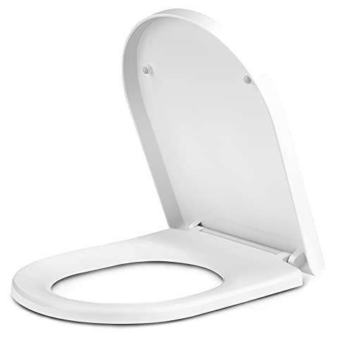 Tapa de WC, Asiento de inodoro de polipropileno en forma de U,...