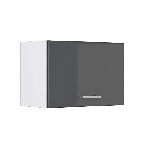 Vicco Küchenschrank Hängeschrank Unterschrank Küchenschränke Küchenunterschrank Arbeitsplatte, Möbel verfügbar in anthrazit & weiß (anthrazit ohne Arbeitsplatte, Hängeschrank 60 cm (flach))