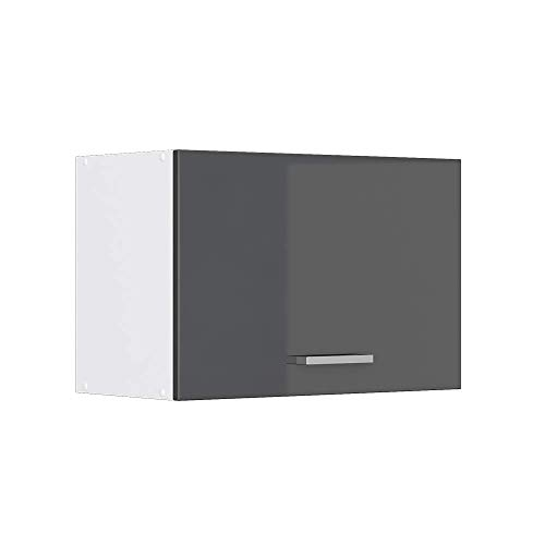 Vicco Küchenschrank Hängeschrank Unterschrank Küchenschränke Küchenunterschrank Arbeitsplatte, Möbel verfügbar in anthrazit und weiß (anthrazit ohne Arbeitsplatte, Hängeschrank 60 cm (flach))