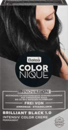 Balea COLORNIQUE Intensiv Color Creme Brilliant Black 1.0, 1 St