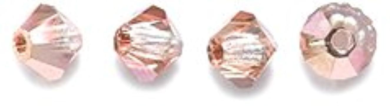Preciosa 4-Mm Czech Crystal Diamond/Bicone Bead, Capri Gold, 144-Piece