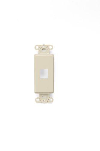 Leviton 41641-I QuickPort Decora Insert, 1-Port, Ivory