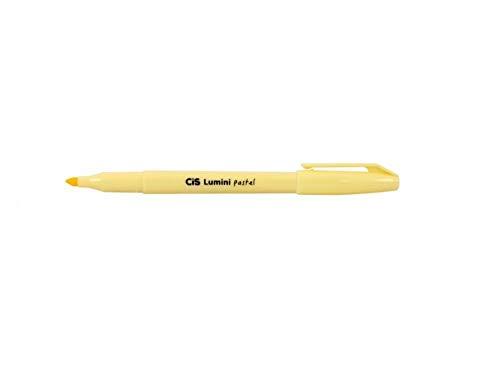 Caneta Cis Marca Texto Lumini Pastel - Amarelo Pastel