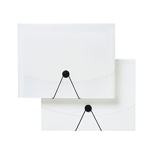 Lhl 13 Tasche A4 Cartella, organizzatore di cartelle espandibili Portatili di Grande capacità Trasparente, per la memorizzazione di Dati, ricevute, Carta di Prova Etichetta