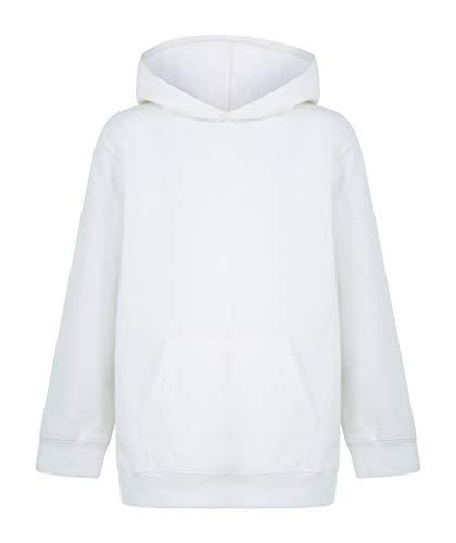 Kratos Attire New Kids Boys Girls Plain Pullover Hoodie Sweatshirt (White,...