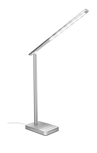 Preisvergleich Produktbild Trust Fuseo Ergonomische LED-Arbeitsplatzlampe mit kabellosem Ladegerät Silber