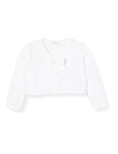 United Colors of Benetton Baby-Mädchen Coprispalle Pullover, Weiß (Bianco 101), 68