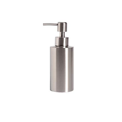 ZANZAN Dispensadores de jabón Dispensador de jabón de encimera de Acero Inoxidable, Botella de jabón líquido de Botella de loción de Metal-s/m/l para el Fregadero de la Cocina 2 Colores Baño