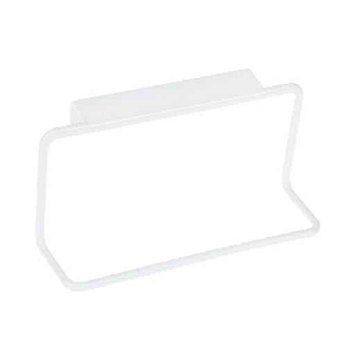 YKW 1 unids Hogar Poseología de plástico Tipo de Gancho Cuelga en la Puerta del Armario Puerta Trasera Toalla Toalla Accesorios de Cocina 4 Colores (Color : White)