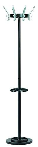 UNILUX Garderobenständer Cypres mit höhenverstellbarem Schirmständer schwarz 170 cm - Kleiderständer Mantelständer Garderobe
