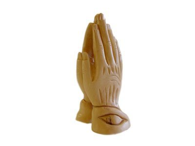 Olive Wood Praying Hands.(6' H)