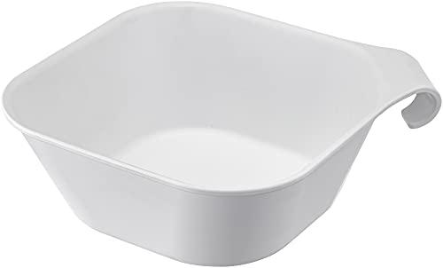 山崎実業(Yamazaki) マグネット & 引っ掛け 湯おけ ホワイト 約W29.5XD27XH9cm タワー 浮かせて収納 バス 浴室 手おけ 5378