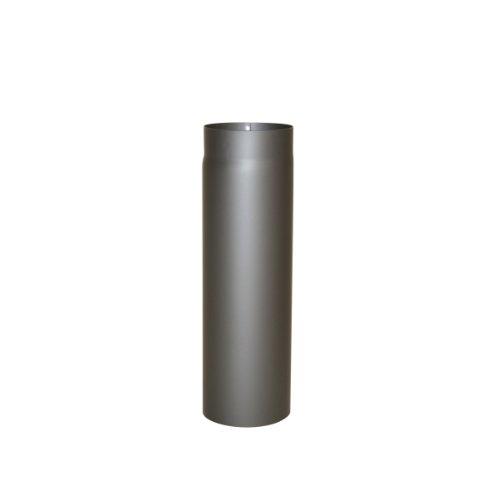 Kamino Flam Ofenrohr gussgrau, Rauchrohr aus Stahl für sichere Ableitung von Verbrennungsgasen, hitzebeständige Senotherm Beschichtung, geprüft nach Norm EN 1856-2, Maße: L 500 x Ø 150 mm