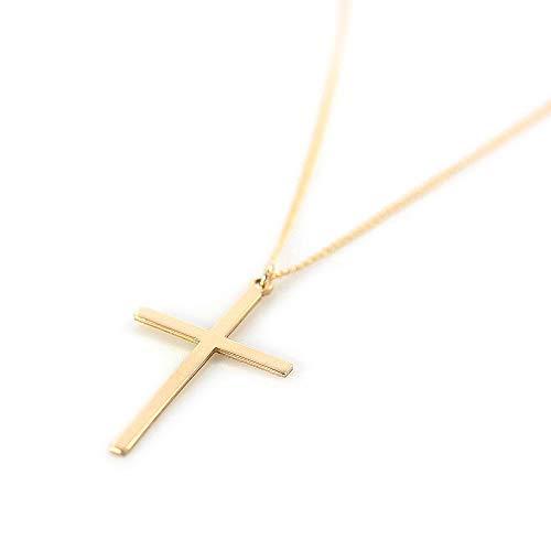 『Barzaz 14金ゴールドフィルド ネックレス クロス ゴールド ロザリオ 十字架』のトップ画像