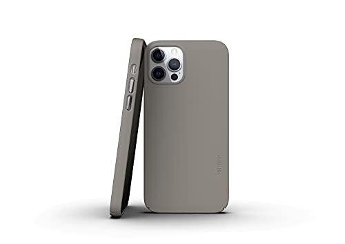 Nudient   V3   Schutzhülle für iPhone 12/Pro, dünn, Clay Beige