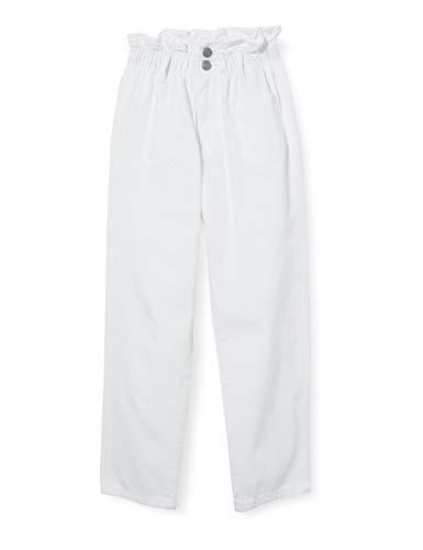 Teddy Smith P-EMY Pocket JR Used Jeans, Blanc, 10 Ans Girls