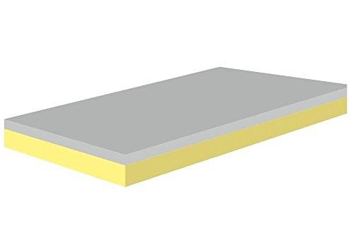 Spenger-Moebel Sandwich Verbund Schaumstoff Verbund Campingmatratze PUR/Visco Kombination mit Topper (60x200x10 cm)