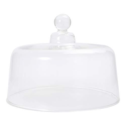 UPKOCH - Tapa de soporte para tartas de cristal, desierto, campana postre, tapa de pastel, plato de servir, plato de servir, cuenco con punzón – 24 cm