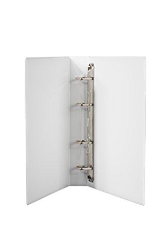DIN A5 Ordner PVC in weiss 40 mm Rückenbreite,4er Mechanik, Füllhöhe 30 mm im 2er Pack