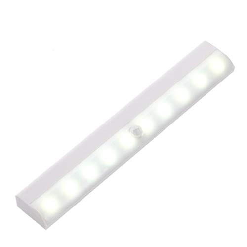 センサーライト LED 屋内 電池式 玄関 防犯 車庫 マグネット 人感 室内 フットライト 足元灯 照明 電球 クリスマス 屋外 aja-356 (白色)