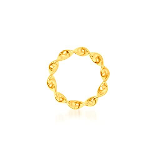 Colgante de oro amarillo de 9 quilates, círculo trenzado, 15/15 mm, peso: 0,51 g.