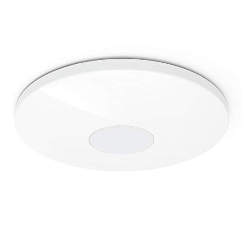 Hama Smart Home Deckenleuchte ohne Hub/Gateway (App- u. Sprachsteuerung für WLAN-Deckenlampe, smarte Deckenlampe für Alexa u. Google Assistant, Smart Home mit verschiedenen Lichtatmosphären, Ø 50 cm)
