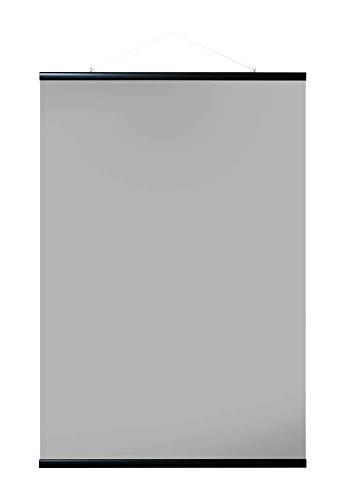 Grupo Erik Appendi Te in Legno MDF, Cornice Poster con Stecche magnetiche, Nero, 61 cm