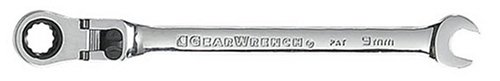 GEARWRENCH 9mm 12 Point Flex Head Ratcheting Combination Wrench - 9909D