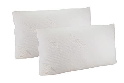 2 Almohadas Bionature® de Copos viscoelástica y núcleo Foam de 75 cm