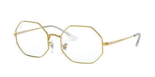 Ray-Ban メンズ Rx1972v 八角形メタル眼鏡フレーム 八角形処方メガネフレーム US サイズ: 54 mm カラー: ゴールド