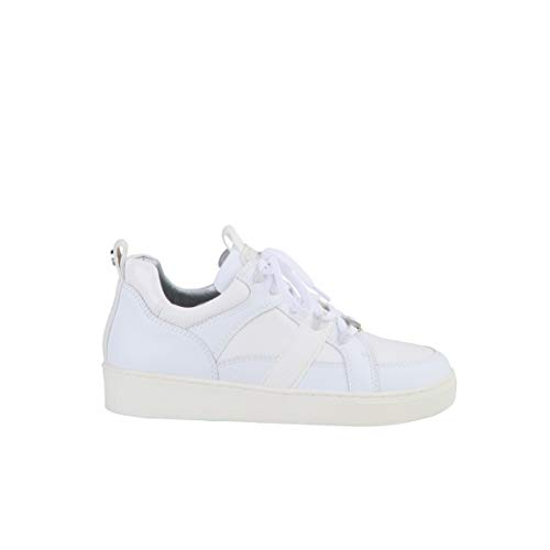 Buffalo Damen Sneaker Catcher Lead, Frauen Low Top Sneaker, schnürschuh sportschuh Plateau-Sohle Ladies feminin,Weiß(Lizard White),40 EU / 6.5 UK