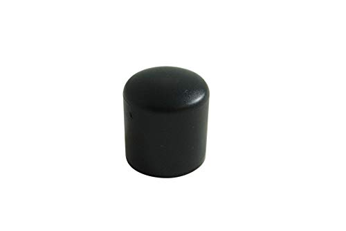 GLEITGUT 4 x Fußkappen schwarz - Rohrkappen Stuhlkappen - Ø 38 mm - Endkappen für Rundrohre