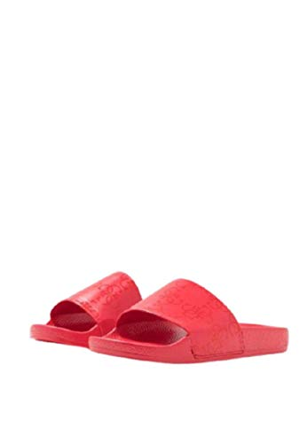 Guess Chanclas Slide para mujer con logo Art.F02Z03BB00F Red Rojo Size: 35 EU