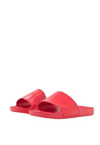 Guess Chanclas Slide para mujer con logo Art.F02Z03BB00F Red Rojo Size: 35 EU