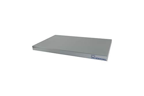 Saro Stay Cool 1/1 GN Kühl-Servierplatte, Metall, Silber, 53 x 32.5 x 3.6 cm