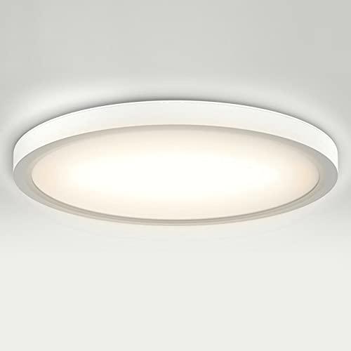 ISUDA LED Lámpara de Techo Moderna Downlight 18W Blanca 4000K 1600LM Impermeable Plafones Led para Baño Cocina Pasillo Sala de Estar Ø23cm