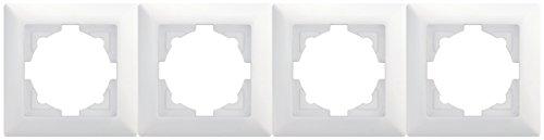 Visage 4-fach Rahmen 01281100000145 gunsan weiß, für 4 Steckdosen Schalter Dimmer Taster aus Visage Schalterserie geeignet