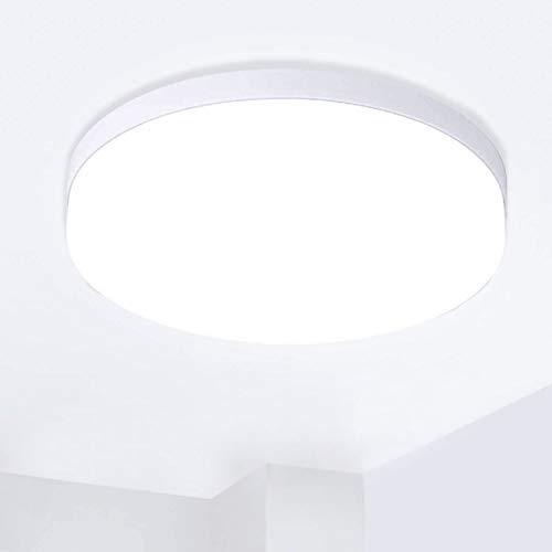 Hosome Plafonnier LED, 36W Plafonnier rond de salle de bains, 6500K lumière Blanche Froide, Plafonnier moderne étanche IP44 pour cuisine, salon, chambre à coucher, couloir et plus