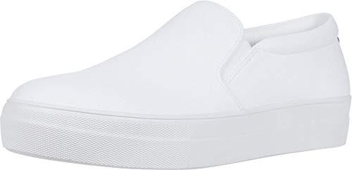 Steve Madden Womens Gills-C Sneaker, White,8