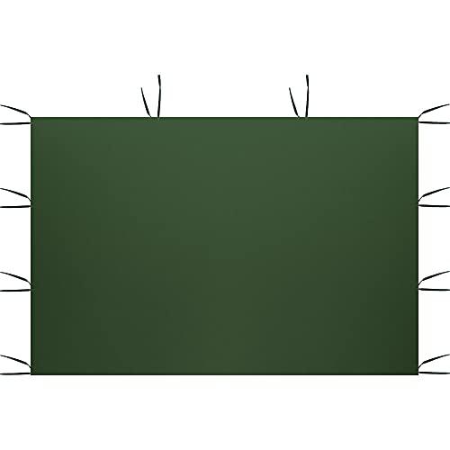 Maalr 3 x 2 m Solo paneles laterales del dosel, panel lateral del cenador de la cortina, superficie de la tienda superior de tela Oxford 210D impermeable (estilo A, verde)