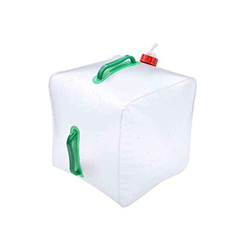 HLJS Bidón de agua plegable, depósito de agua de 20 L, bolsa de agua, portátil, sin BPA, plegable, para camping, con mango, grifo, depósito de agua para picnic, viaje, barbacoa