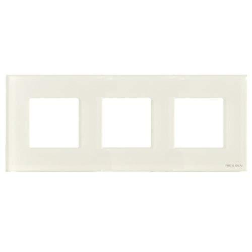 Niessen zenit - Marco 3 elementos serie zenit cristal blanco