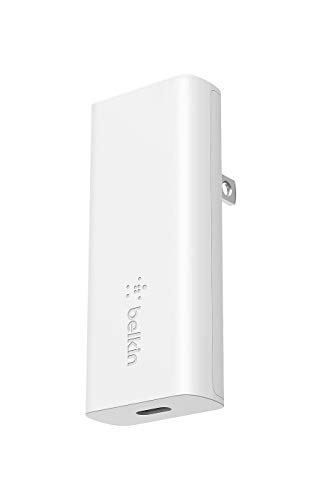 Belkin 充電器 USB-C 20W PD 急速充電 GaN 窒化ガリウム 折りたたみ式プラグ 世界最薄 iPhone 12 / 11 / SE/iPad/Androidスマホ各種対応 BOOST↑CHARGE WCH009dqWH-A