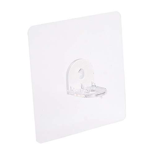 MSYG 7 x 7 cm sin perforación, soporte de triángulo, soporte de marco de ángulo recto, gancho de rosca, 12 unidades
