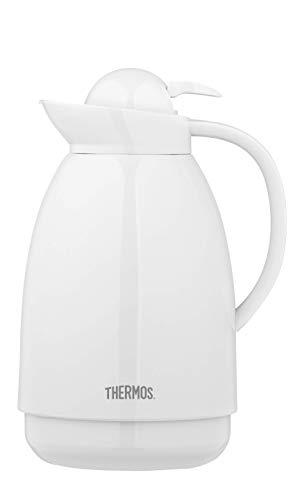 THERMOS 4021.211.100 Isolierkanne Patio, Kunststoff Weiß 1,0 l, 12 St&en heiß, 24 St&en kalt