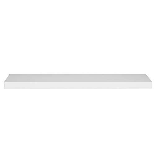 WOLTU Estantería Flotantes Blanco Baldas 90cm Estante para Pared de Tablero de Madera RG9370ws