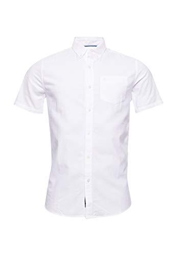Superdry Hombre Camisa de Manga Corta Classic University Oxford